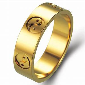 yin yang in 18k yellow gold wedding rings With yin yang wedding rings