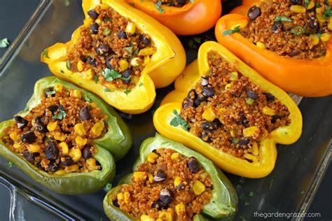 The Garden Grazer Mexican Quinoa Stuffed Peppers