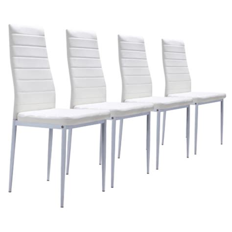 lot 4 chaises blanches lot de 4 chaises blanches achat vente chaise cdiscount
