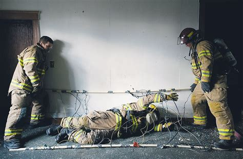 Firefighters practice safety, survival techniques during ...