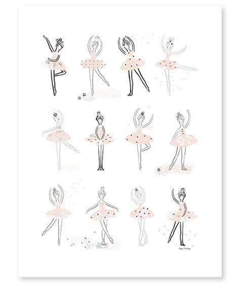 peinture de chambre de fille affiche danse classique décoration chambre fillette