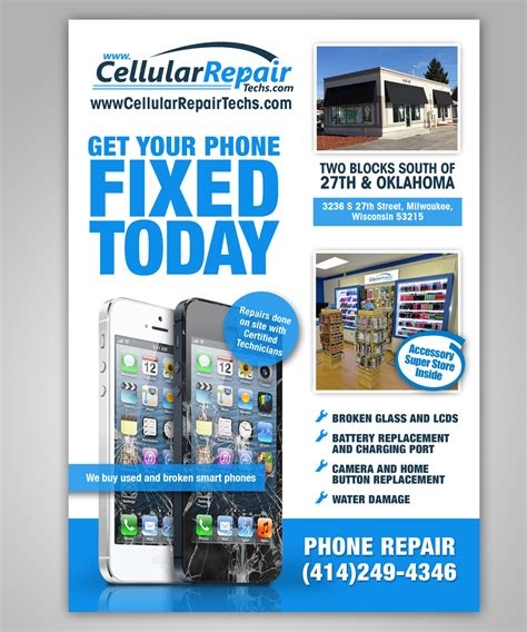 cell phone repair na playful brochure design for net lease by