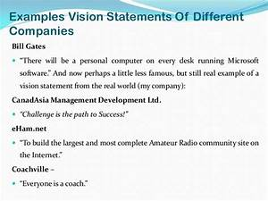 Outline Autobiography Vision Statement Examples Alisen Berde