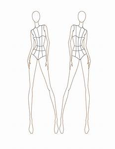 croquis female front view croquis illustrations With fashion templates front and back female