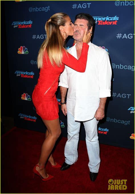 Heidi Klum Covers Simon Cowell Kisses America Got