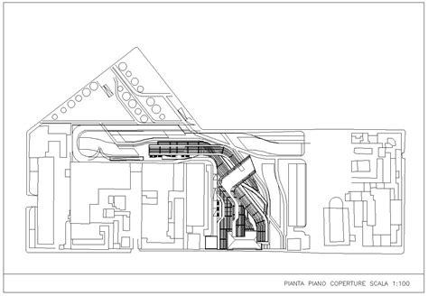 maxxi museum zaha hadid  cad blocks drawings