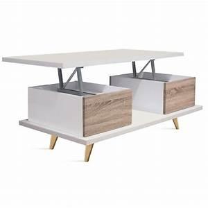 Table Basse Blanc Bois : table basse amovible table basse verre design trendsetter ~ Teatrodelosmanantiales.com Idées de Décoration