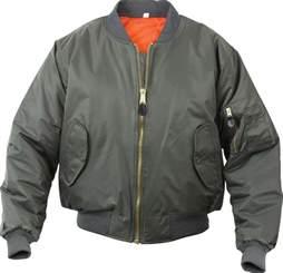 olive drab military air force ma 1 reversible bomber coat