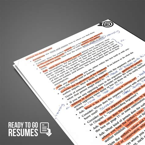 Resume Critique by Resume Critique Ready To Go Resumes
