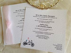 tandem bike flat square wedding invitations With wedding invitation paper weight gsm