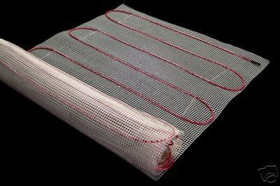 Electric Radiant Heat Mat - 30 sqft mat electric radiant floor heat heating system