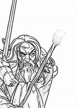 Coloring Lord Rings Gollum Character Gandalf Kiddo Colouring Lotr Designlooter 416px 2kb sketch template
