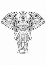 Elephant Coloring Pages Elephants Patterns Simple Adult Adults Mandala Decorated Printable Easy Animal Children Justcolor Simply Animals Gifts Detailed Flower sketch template