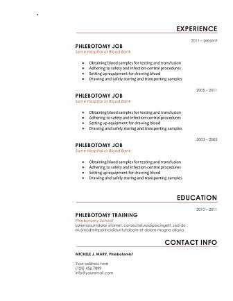How To Get Free Resumes by 10 Free Phlebotomy Resume Templates To Get You Noticed Now