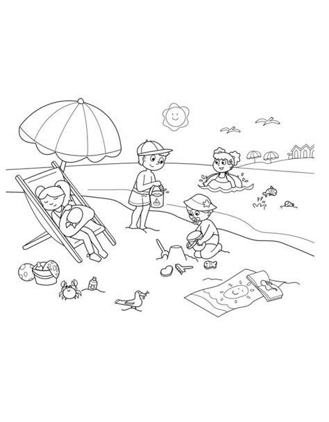 disegni da colorare mare per bambini disegno di spiaggia sole e mare da colorare per bambini