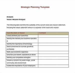 Sample strategic account plan templates download free premium templates forms samples for for Strategic planning templates free