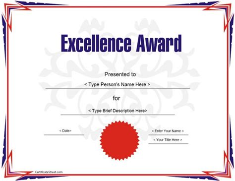 award certificate templates  illustrator