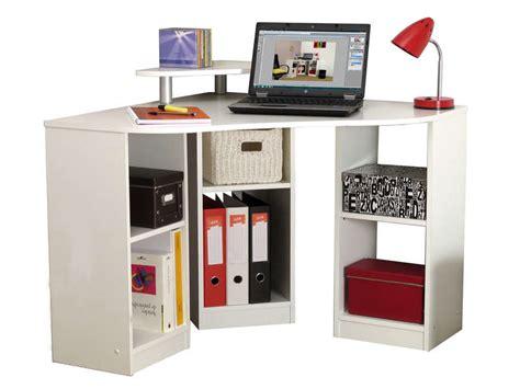 bureau vente bureau d 39 angle corner coloris blanc vente de bureau