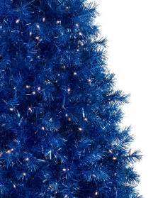 sassy sapphire blue tinsel christmas tree treetopia