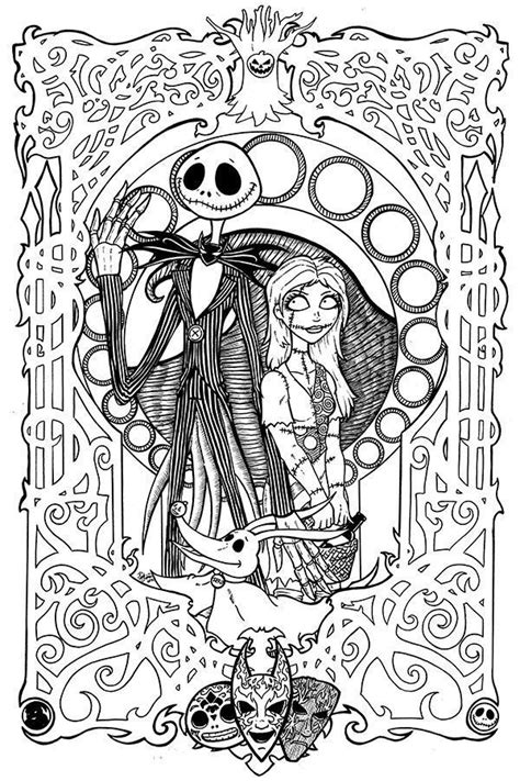 coloring pages random print nightmare before christmas books
