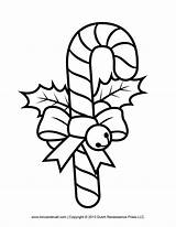 Candy Cane Template Coloring Printables Clip Clipart Templates Decorations sketch template