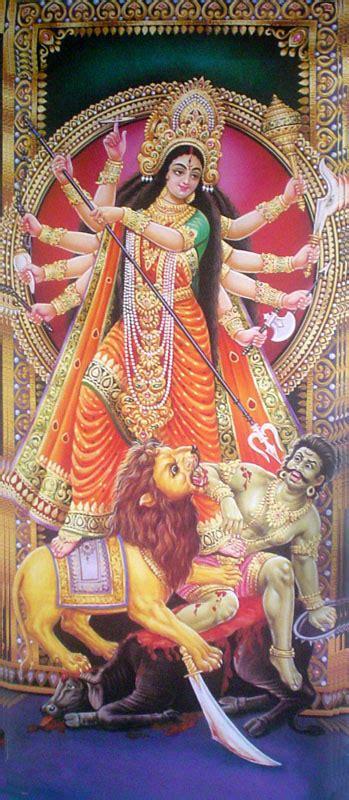 goddess durga killing mahishasura