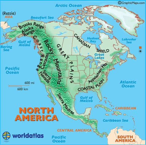 landforms of america mountain ranges of america united states landforms map of