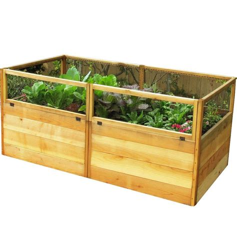outdoor living today 6 ft x 3 ft cedar raised garden bed