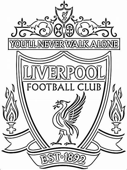 Liverpool Football Coloring Pages Club Badge Soccer