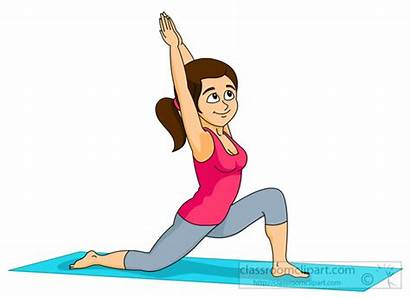 Yoga Exercise Clip Doing Clipart Workout Fitness