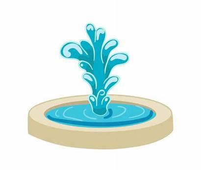 Fountain Vector Water Clip Illustration Stream Illustrations