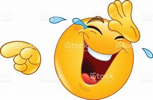 Laughing With Tears And Pointing Emoticon Stock Vector Art ...