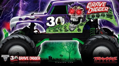 grave digger monster truck 30th anniversary grave digger wallpapers wallpaper cave