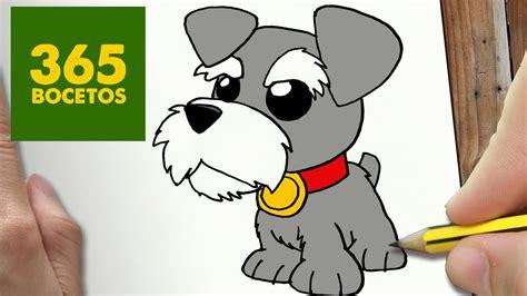 como dibujar perro schnauzer kawaii paso  paso dibujos kawaii faciles   draw  schnauzer