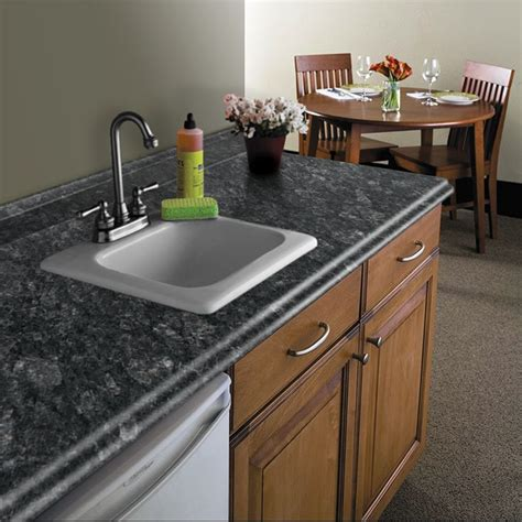 Laminate Countertop Dimensions by Shop Vt Dimensions Formica 10 Ft Midnight Etchings