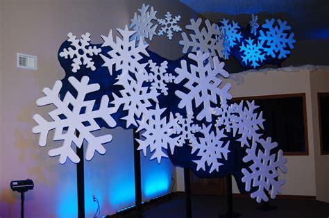snowflakes falling  church stage design ideas