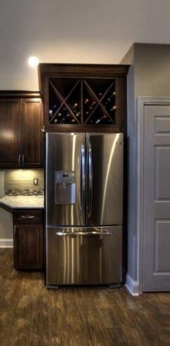 amazing grays diy  fridge wine rack
