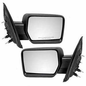 Pair Set Manual Side Mirrors Pedestal Textured For 09