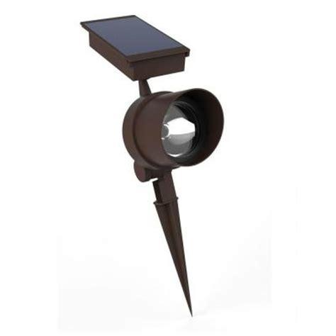 home depot solar spot lights hton bay solar bronze metal spot light s8187 the home