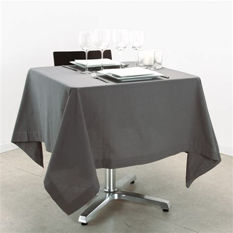 nappe de table carre nappe carr 233 150x150cm gris