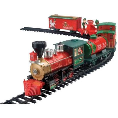 the north pole express train set home accents pole express set 37187 the home depot