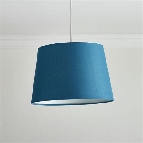 teal and white l shade wilko satin tapered shade teal at wilko com