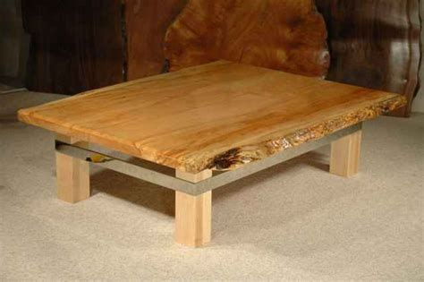 Custom Wood Slab Coffee Tables Dumond's Custom Furniture
