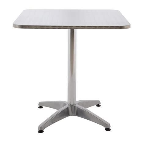 table de bistrot carree table alu bistrot achat vente tables aluminium rotin design