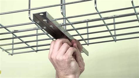 basket tray how to install cable tray ceiling supports