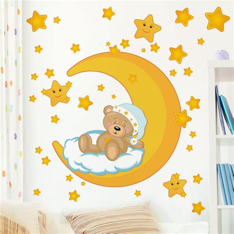 Wandtattoo Kinderzimmer Teddy by Wandtattoo Kinderzimmer Teddys Sternenhimmel