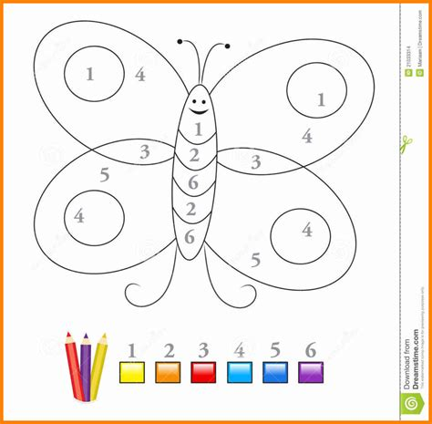 9 Preschool Color By Number Arseloquentiae