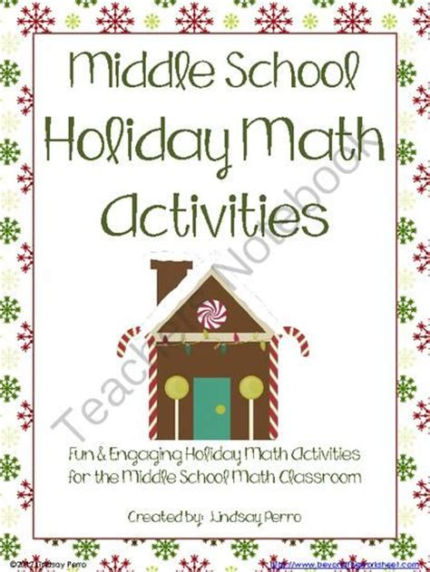 holiday math activities for middle school from beyond the worksheet on teachersnotebook 110