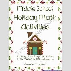Holiday Math Activities For Middle School From Beyond The Worksheet On Teachersnotebookcom (110
