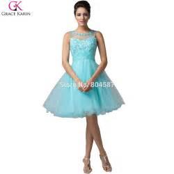 robe de mariã e grace evening dresses 2016 grace karin robe de soiree courte tulle blue dress pink